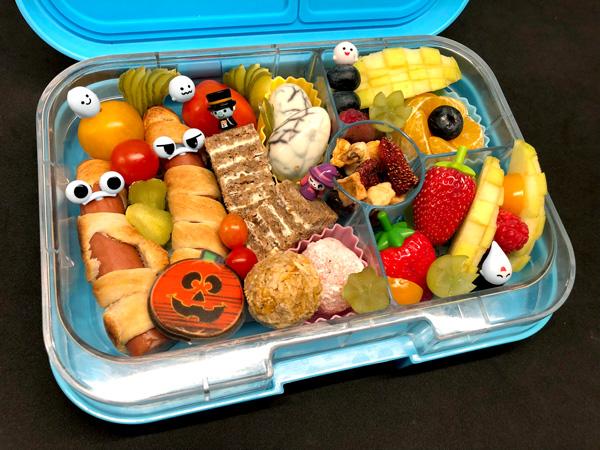 Mumienwürstchen - Ideen für die Halloween Bento Box