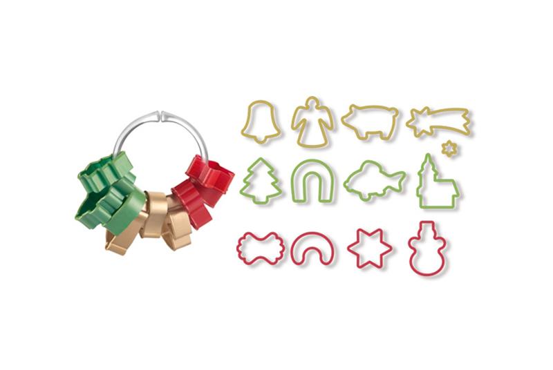 13-tlg SET Ausstechform Stern Engel Weihnachten Plätzchenausstecher Tescoma