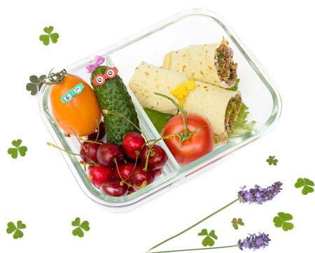 Wrap Idee mit Hackfleich für Lunchbox
