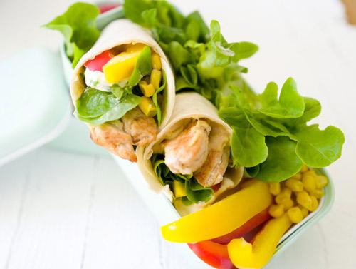 Tortilla Wraps als Alternative zu Brot für die Lunchbox