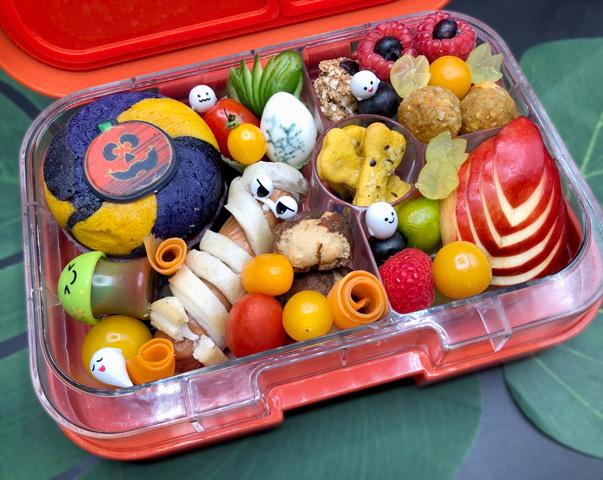 Spinnennetzeier - Ideen für die Halloween Bento Box