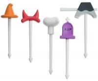 Food Picks - Halloween Hats, 5er Set