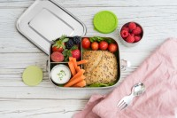 LEKKABOX Safe 3er, 1000ml - Auslaufsichere Edelstahl Lunchbox