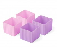 Bento Förmchen, 4er Set - LEKKABOX Cups