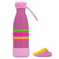 Yumbox AQUA - Edelstahl Trinkflasche, 420ml - mit Trageband