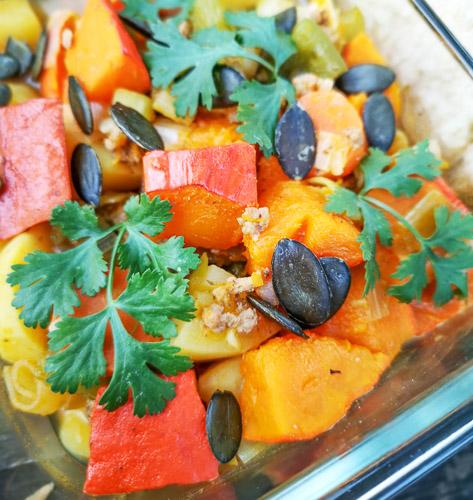 Meal Prep - Kürbis Eintopf in der Lunchbox. Herbst Rezept