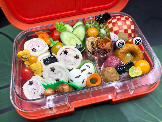 Lunchbox Ideen zu Halloween - verzierte Eier