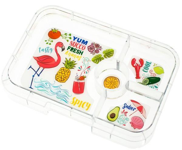 Ersatz Inlay Einsatz für Yumbox XL Tapas Lunchbox - Flamingo